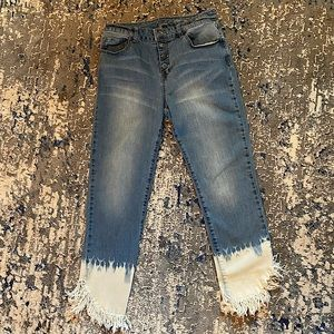 Inc Cropped Jeans Frayed
